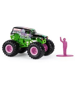 Mini-Veiculo-e-Figura---1-64---Monster-Jam---New-Grave-Digger---Sunny