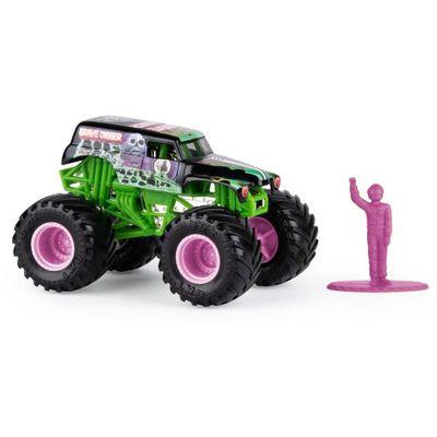 Mini-Veiculo-e-Figura---1-64---Monster-Jam---New-Grave-Digger---Sunny