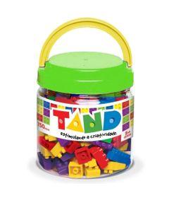 Pote-com-Blocos-de-Montar-Tand-Kids---150-Pecas---Verde---Toyster