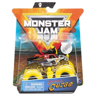 Mini-Veiculo-e-Figura---1-64---Monster-Jam---Piratas-Curse---Sunny