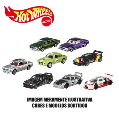 Kit-de-Carrinhos-Hot-Wheels---164---Veiculos-Basicos---8-Carrinhos-Sortidos---Mattel