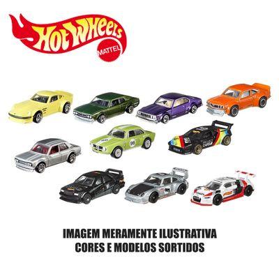 Kit-de-Carrinhos-Hot-Wheels---164---Veiculos-Basicos---10-Carrinhos-Sortidos---Mattel