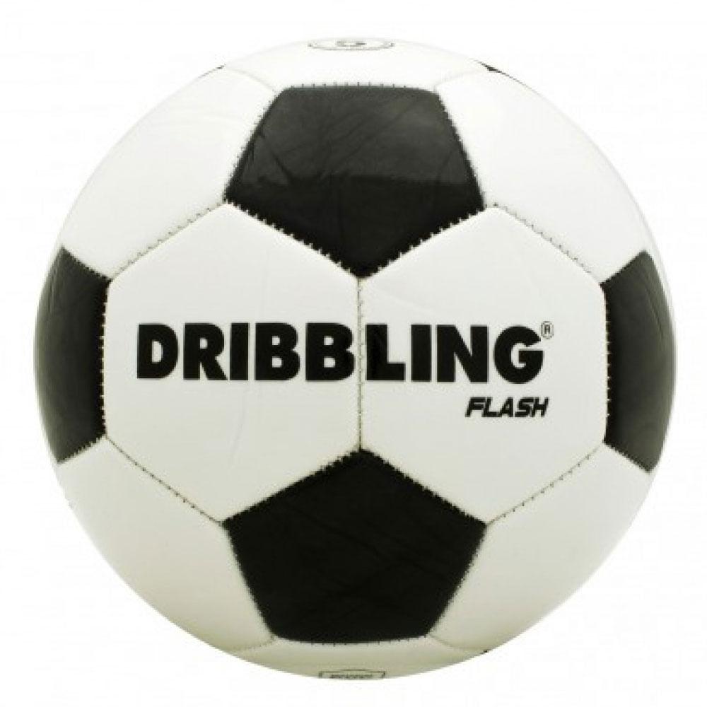 Bola de Futebol - Nº 5 - Dribbling Flash - Branco e Preto - Sportcom