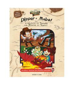 Livro-Infantil---Dipper-E-Mabel---A-Maldicao-Do-Tesouro-Dos-Piratas-Do-Tempo----Universo-dos-Livros