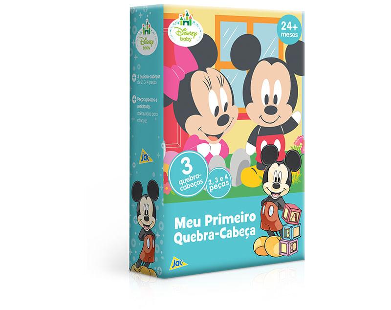 Meu Primeiro Quebra-Cabeça - Disney Baby - Mickey - 2/3/4 peças - Toyster