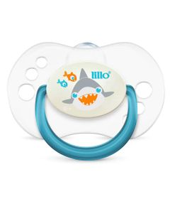 Chupeta-com-Bico-Simetrico---Smart-Glow---Tam-2---Azul---Tubarao---Lillo