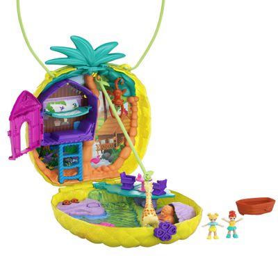 Playset-e-Mini-Boneca---Polly-Pocket---Mini-Estojos-Polly---Abacaxi-Tropical---Mattel-0