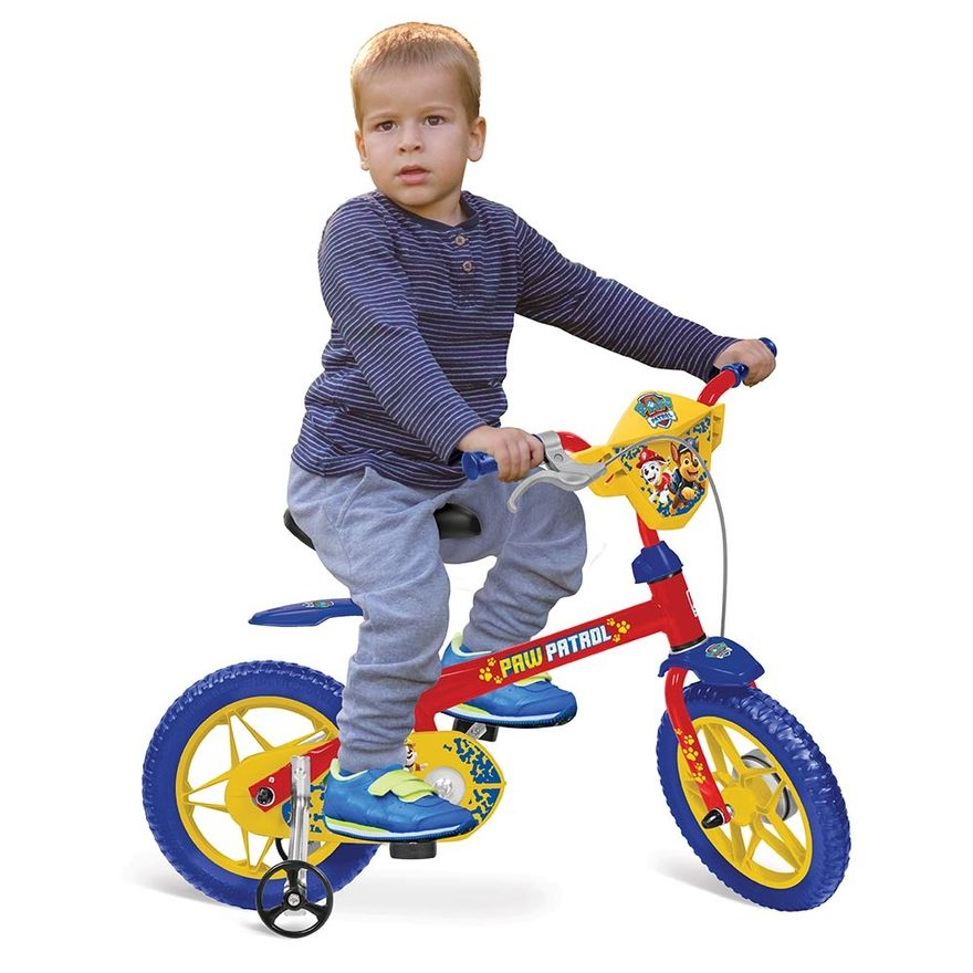 Bicicleta-Aro-12---Patrulha-Canina---Vermelho-Azul-e-Amarelo---Bandeirante-1