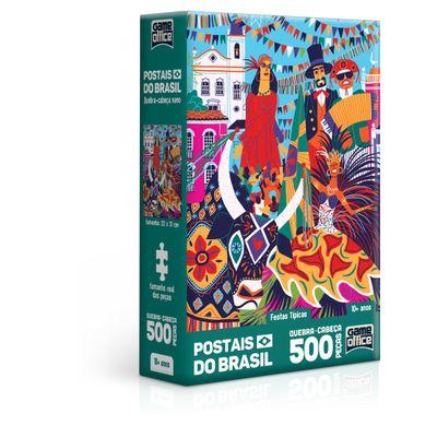 Quebra-cabeca-Nano---500-pecas---Postais-do-Brasil---Festas-Tipicas---Game-Office---Toyster-0