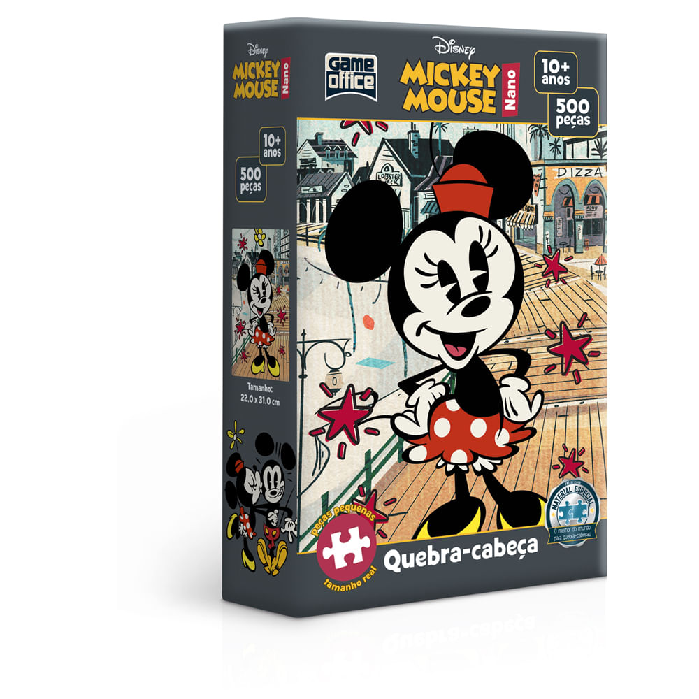 Quebra-Cabeça Nano - 500 Peças - Disney - Mickey Mouse - Toyster