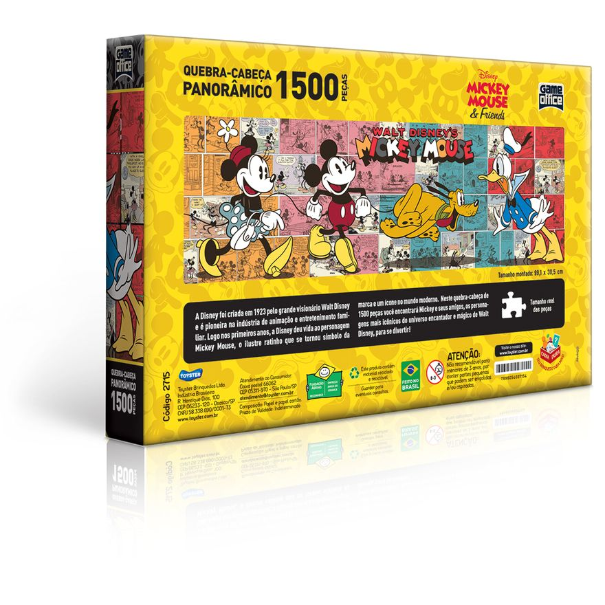 Quebra-Cabeca---1500-Pecas---Disney---Turma-do-Mickey-Mouse---Game-Office---Toyster-2