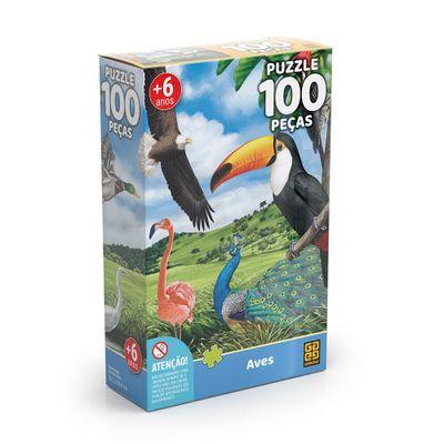 Quebra-Cabeca---100-Pecas---Aves---Grow-0