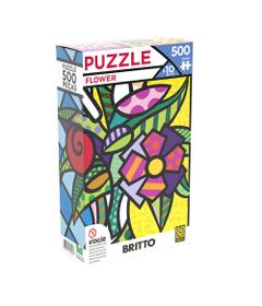 Quebra-Cabeca---500-Pecas---Romero-Britto---Flower---Grow-0