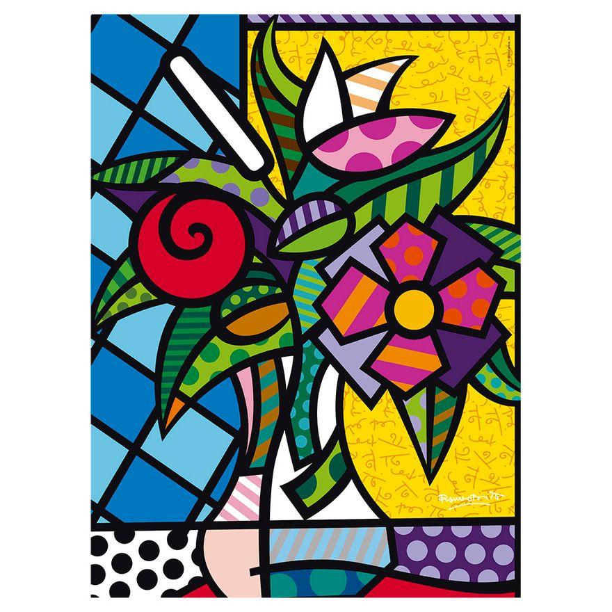 Quebra-Cabeca---500-Pecas---Romero-Britto---Flower---Grow-2