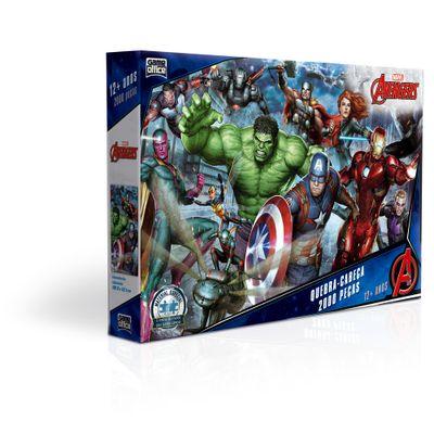 Quebra-Cabeca---2000-Pecas---Disney---Marvel---Os-Vingadores---Game-Office---Toyster-0