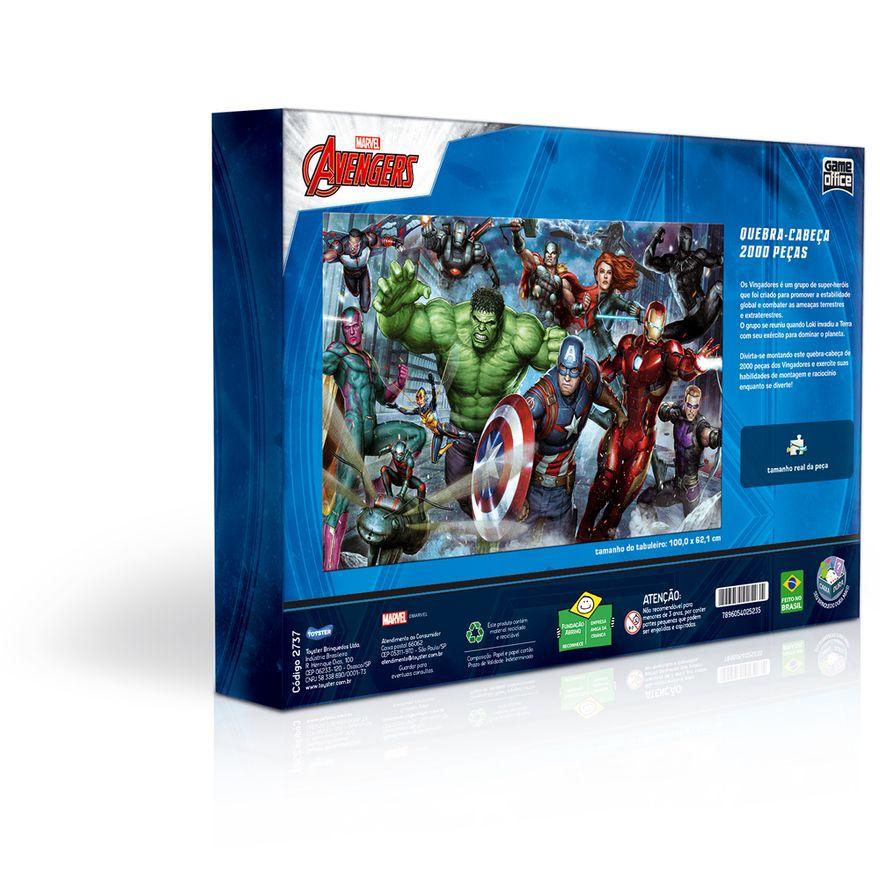 Quebra-Cabeca---2000-Pecas---Disney---Marvel---Os-Vingadores---Game-Office---Toyster-2