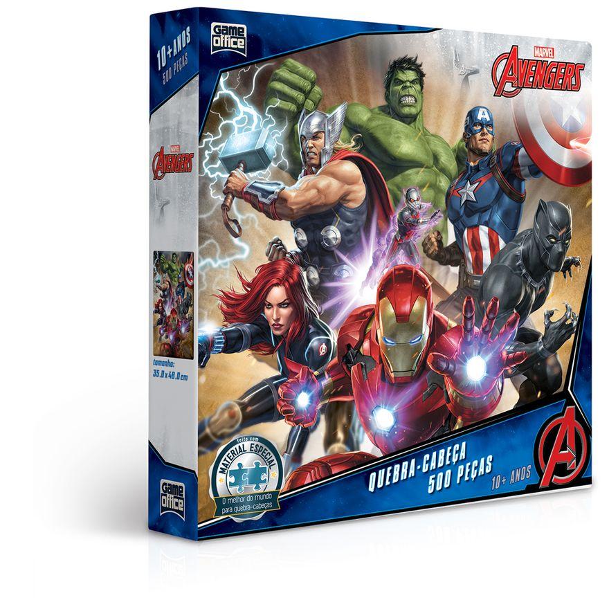 Quebra-Cabeca---500-Pecas---Disney---Marvel---Os-Vingadores---Game-Office---Toyster-0