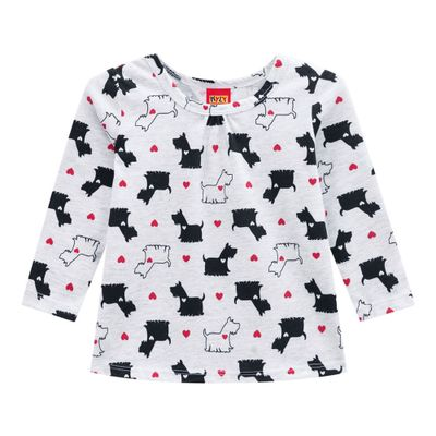Conjunto-Infantil---Blusa-e-Legging---100--Algodao---Cachorro---Branco---Kyly---1