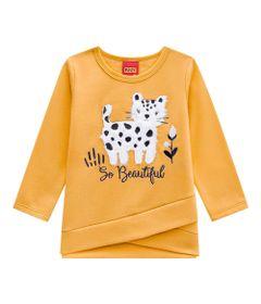 Conjunto-Infantil---Blusa-e-Legging---100--Algodao---Gato---Amarelo---Kyly---1