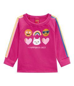 Conjunto-Infantil---Blusao-e-Calca---100--Algodao---Smile---Rosa---Kyly---1