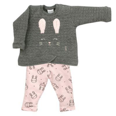 Conjunto-Infantil---Blusa-e-Calca---Algodao-e-Poliester---Coelha---Cinza---Tilly-Baby---P