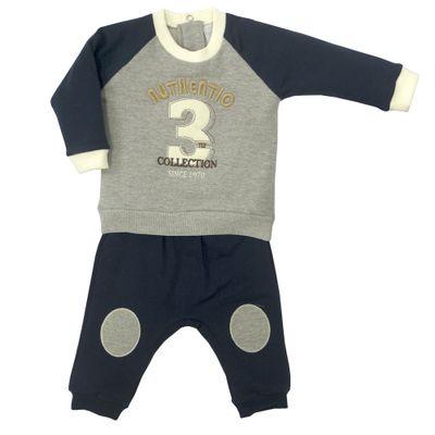 Conjunto-Infantil---Blusa-e-Calca---Algodao-e-Poliester---Authentic---Cinza---Tilly-Baby---P