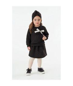 Conjunto-Infantil---Blusao-e-Saia---Algodao-e-Poliester---Poas---Preto---Malharia-Cristina---2