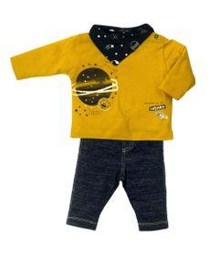 Conjunto-Infantil---Blusa-e-Calca---100--Algodao---Universo---Azul---Tilly-Baby---M
