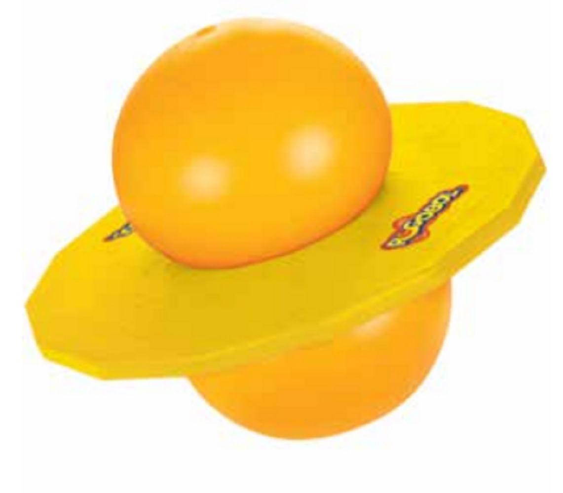 Brinquedo Clássico - Pogobol - Amarelo e Laranja - Estrela