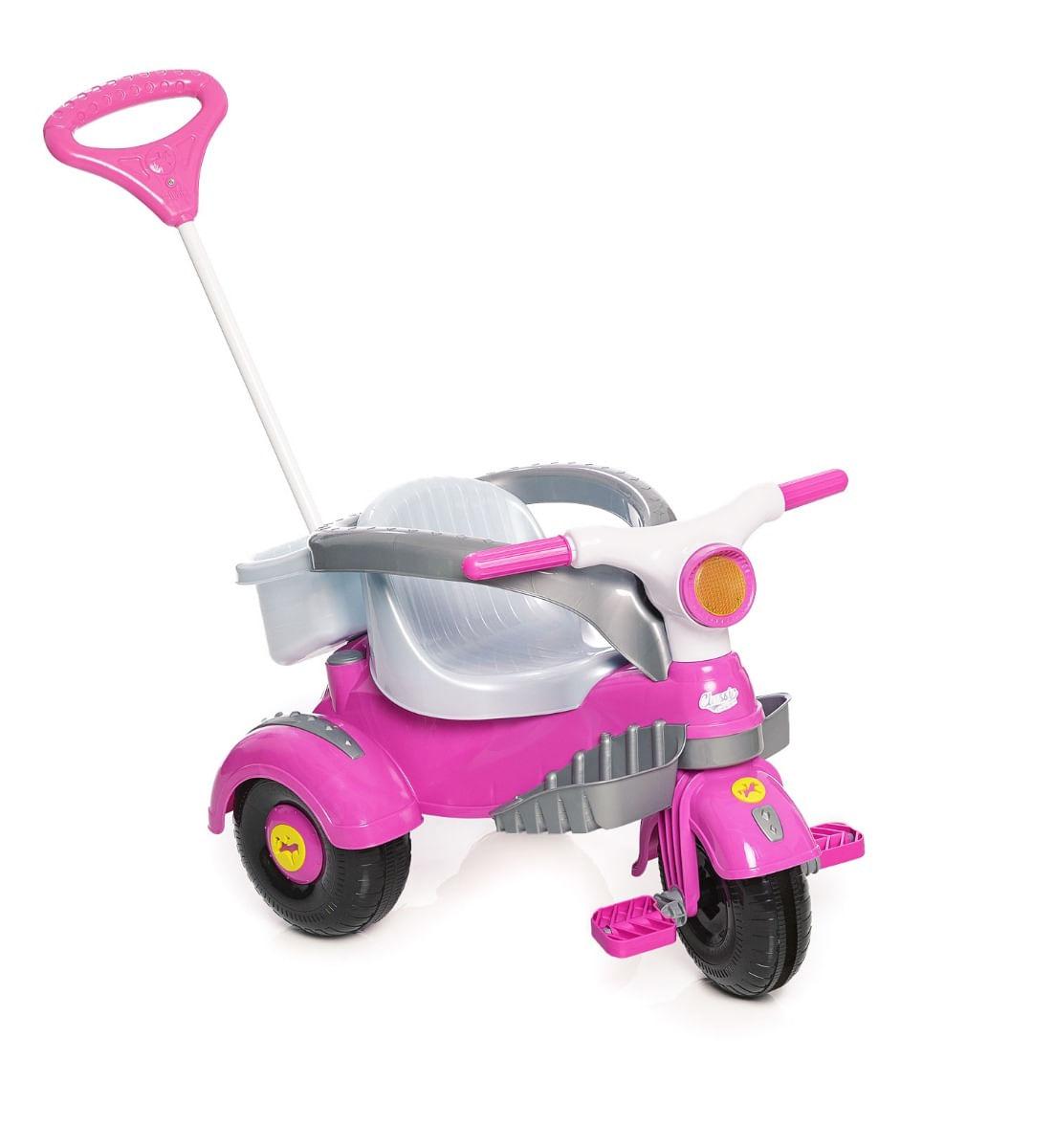 Carrinho Motoca Triciclo Velocita Classic Rosa Calesita