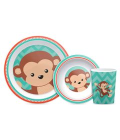 Conjunto-de-Refeicao---3-Pecas---Animal-Fun---Macaco---Buba