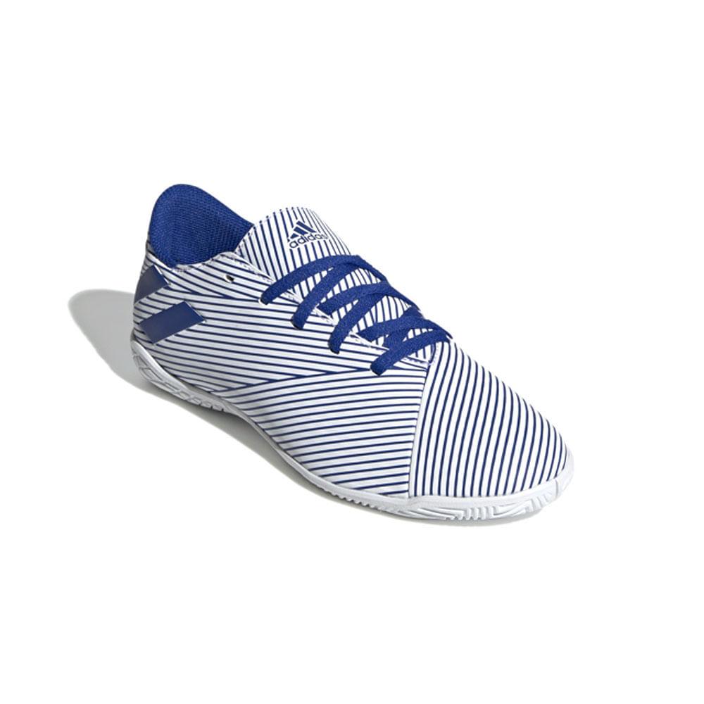 Chuteira Futsal - Nemezis 19 - Azul e Branco - Adidas