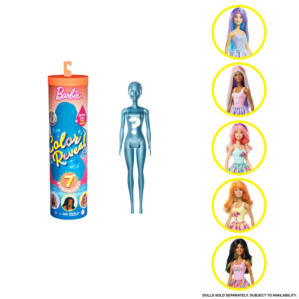 Boneca Barbie - Barbie Color Reveal - 7 Surpresas - Natureza - Mattel