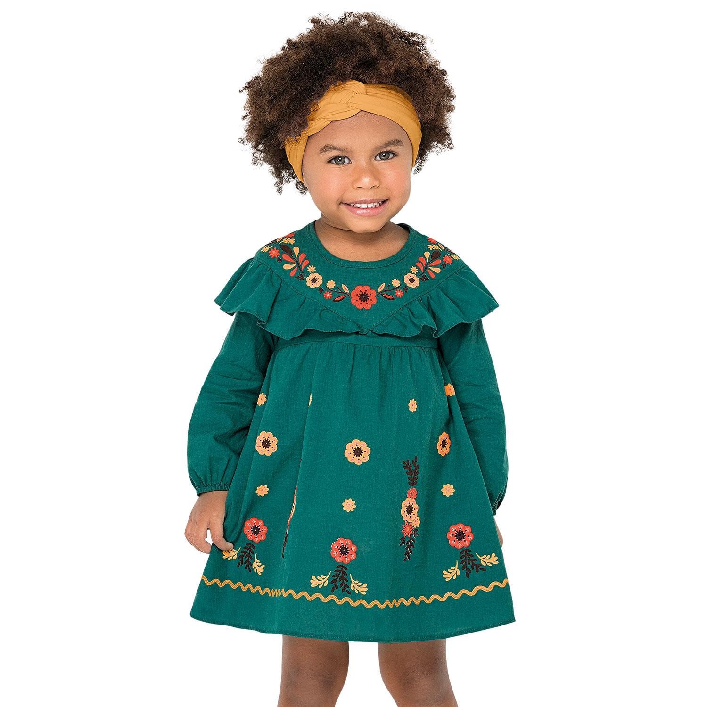 Vestido Infantil Nanai Cambraia