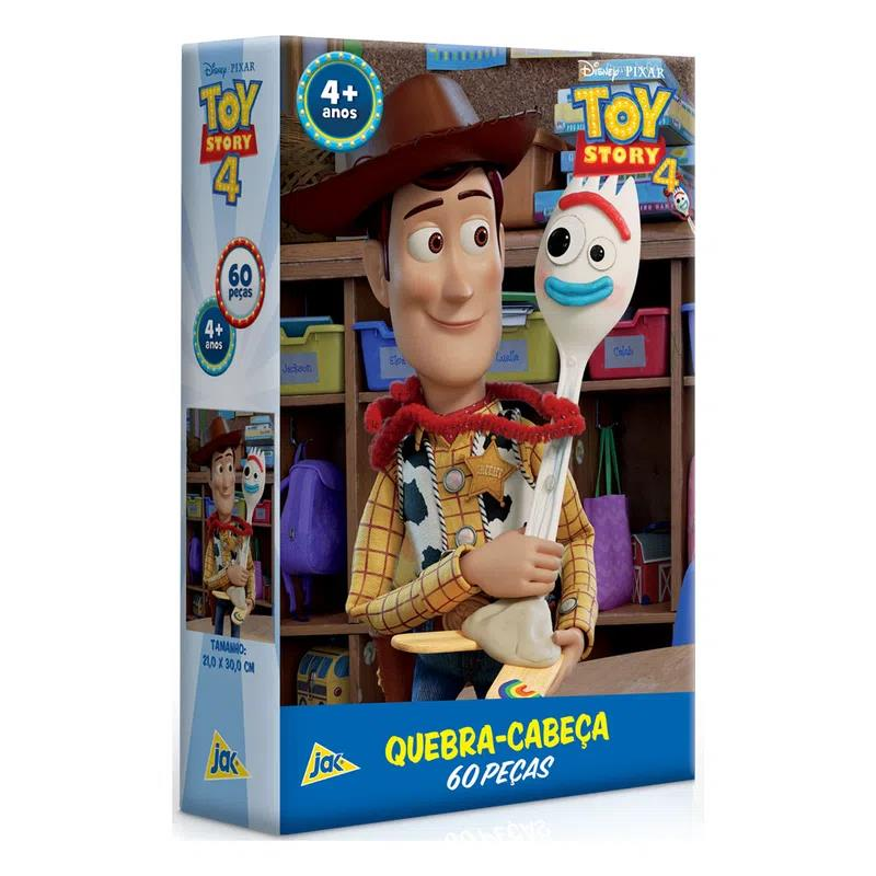 Quebra Cabeça - 60 peças - Toy Story 4 - Woody - Toyster