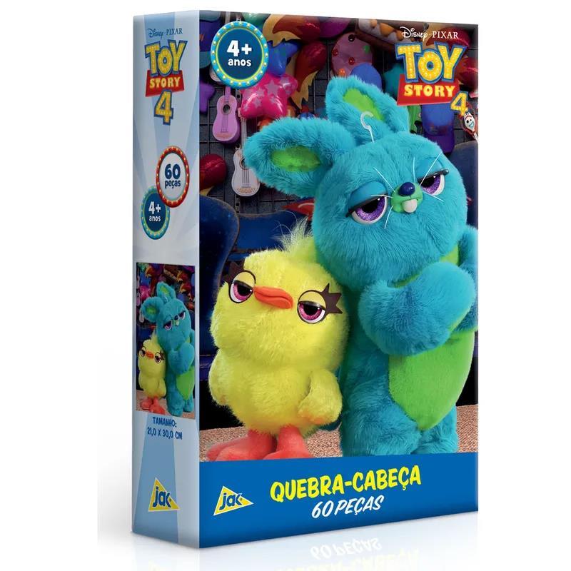 Quebra Cabeça - 60 peças - Toy Story 4 - Duck e Bunny Conejo - Toyster