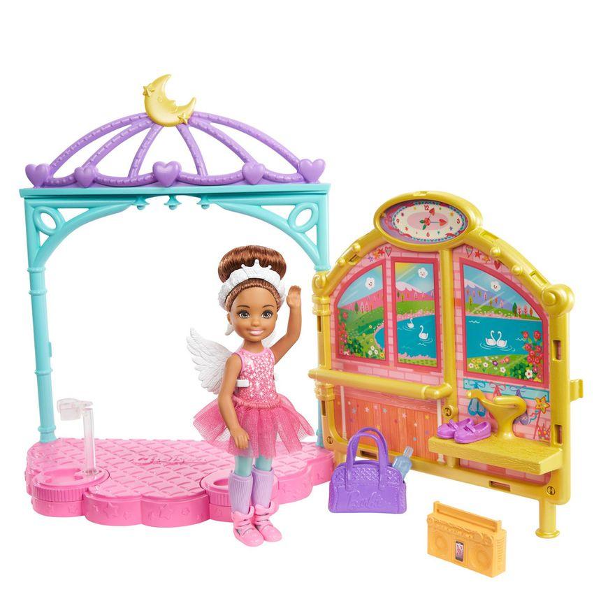 Playset-e-Boneca-Barbie---Sisters-E-Pets-Chelsea---Aulas-de-Ballet---Mattel-0