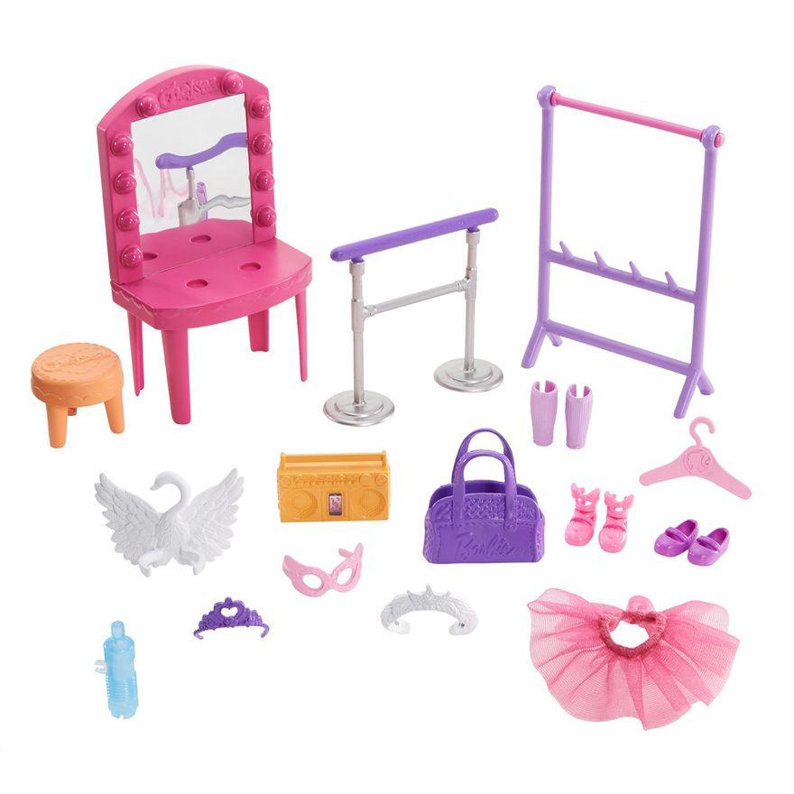 Playset-e-Boneca-Barbie---Sisters-E-Pets-Chelsea---Aulas-de-Ballet---Mattel-1