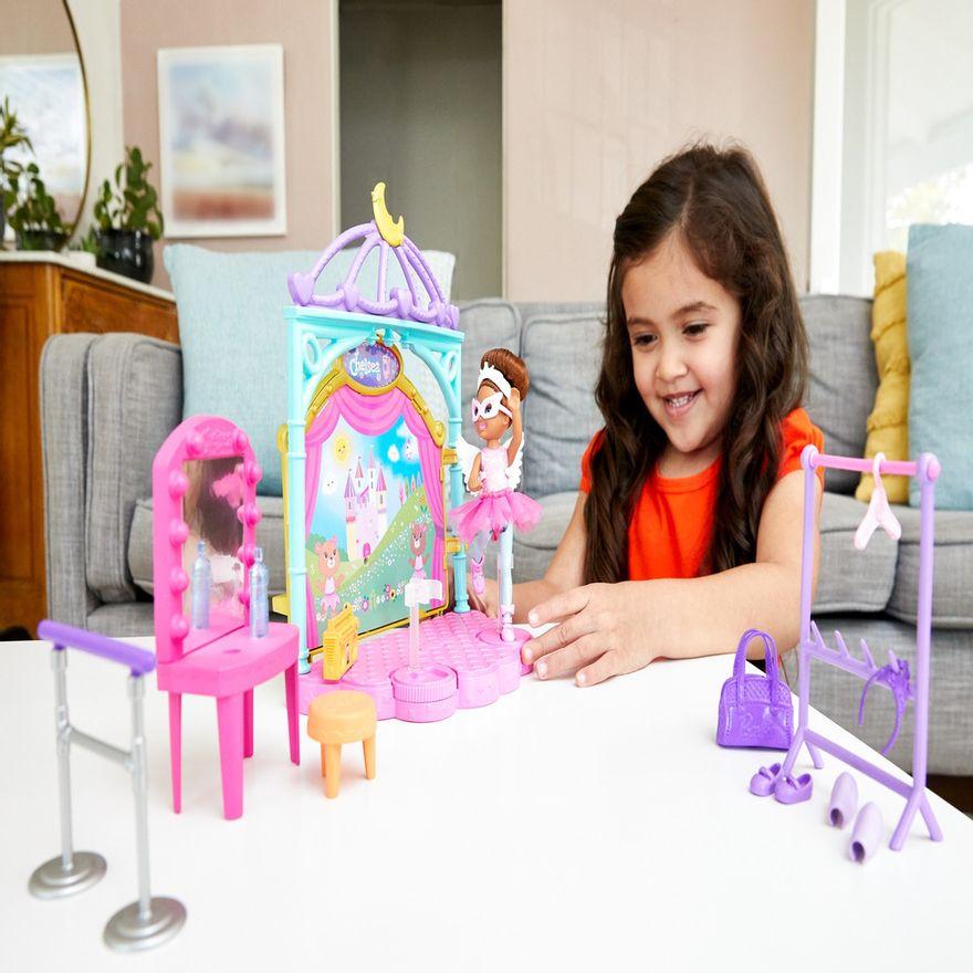 Playset-e-Boneca-Barbie---Sisters-E-Pets-Chelsea---Aulas-de-Ballet---Mattel-5