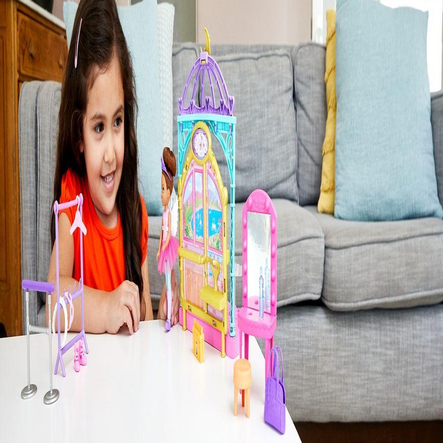 Playset-e-Boneca-Barbie---Sisters-E-Pets-Chelsea---Aulas-de-Ballet---Mattel-6