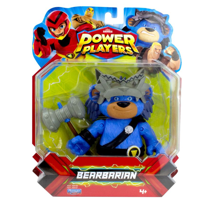 Figura-Articulada---12Cm---Power-Players---Bearbarian---Sunny