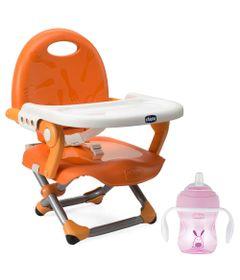 100232609-Kit-com-Cadeira-de-Alimentacao---Pocket-Snack---Mandarino-e-Copo-de-Transicao---250-Ml---Rosa---Chicco_Frente