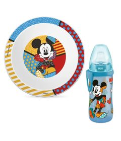 100232631-Kit-de-Alimentacao-com-Prato-Fundo-e-Copo-de-Treinamento---300Ml---Disney-By-Britto---Mickey-Mouse---NUK_Frente