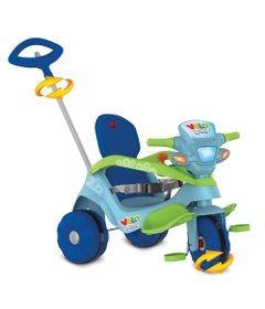 Triciclo-de-Passeio-e-Pedal---Velobaby---Reclinavel---Azul---Bandeirante-0