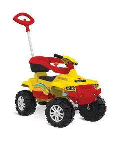 Mini-Veiculo-de-Passeio---Superquad-com-Pedal---Amarelo---Bandeirante-0