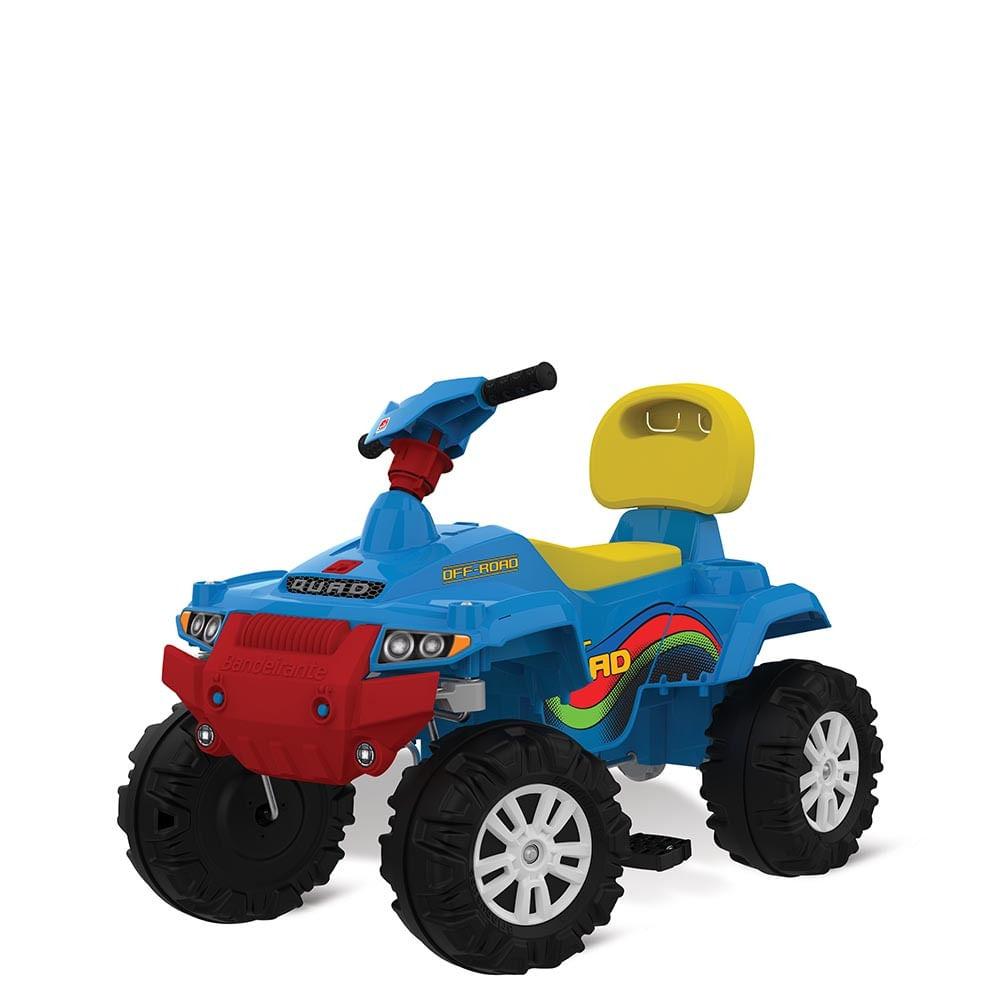 Mini Veículo de Passeio - Superquad com Pedal - Azul - Bandeirante