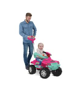 Mini-Veiculo-de-Passeio---Superquad-com-Pedal---Rosa---Bandeirante-0