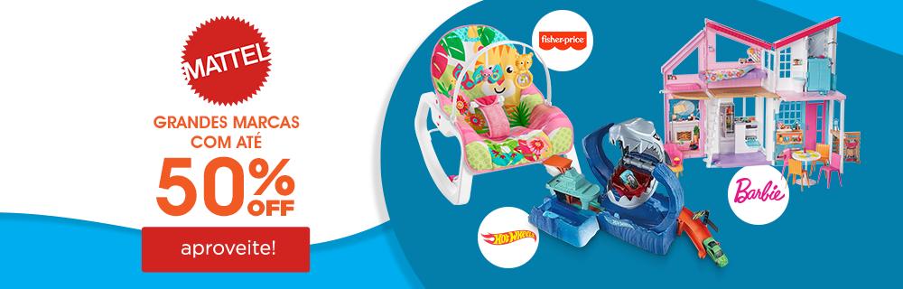 4 - Mattel!! Grandes Marcas com Descontos de até 50% OFF - Fisher Price - Barbie - Hot Wheels - CTA Aproveite!!