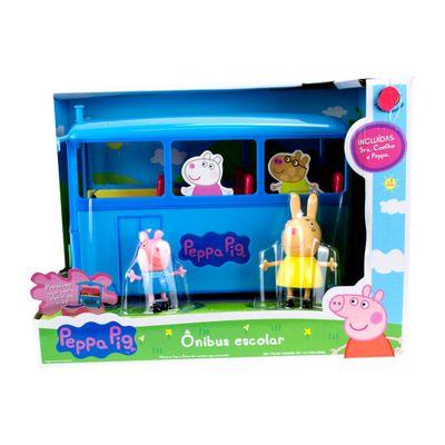 Mini-Figura-e-Veiculo---Onibus-Escolar---Peppa-Pig---Sunny-0