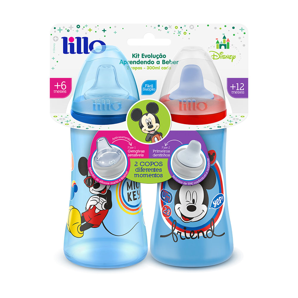 Conjunto De Copos De Treinamento - Disney Colors - Mickey Mouse - Lillo